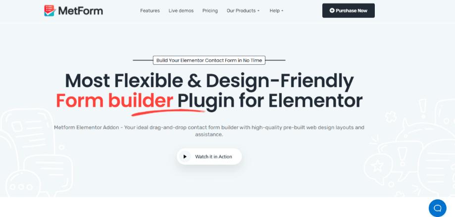 MetForm ecommerce WordPress plugin