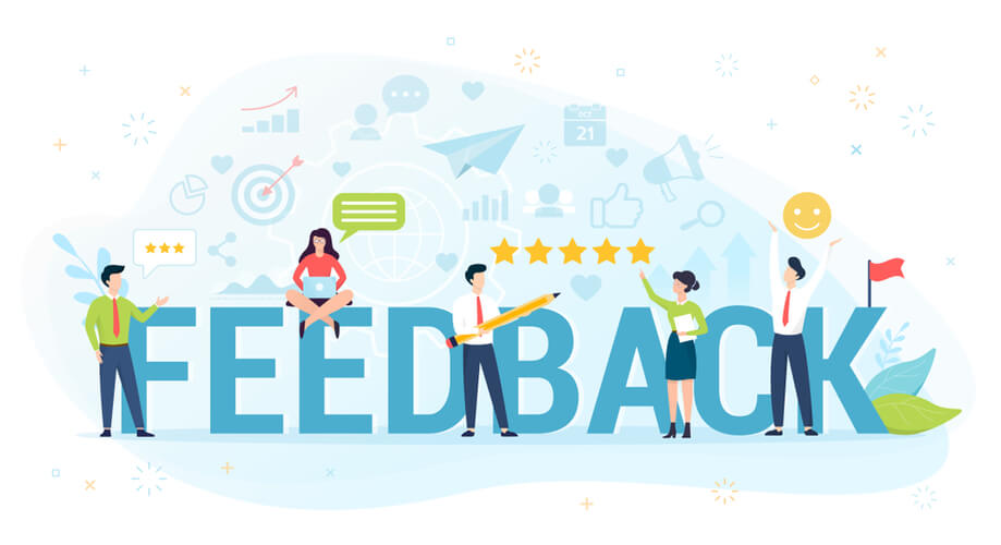 Receive customer feedback with contact forms