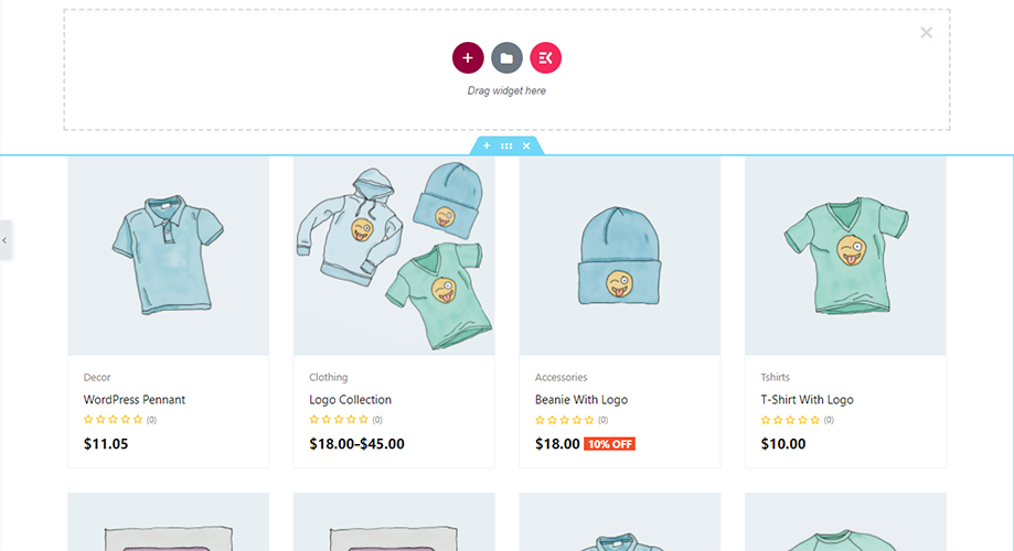 shop page template layout of shopengine