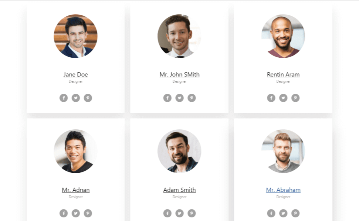 how to add team member section with elementor