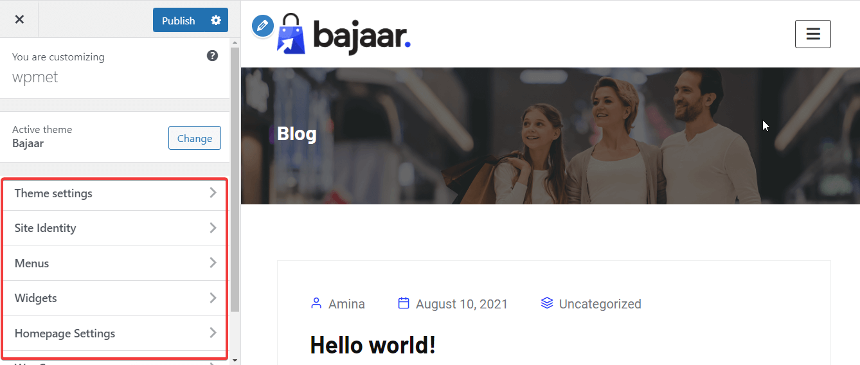Change appearance with Bajaar