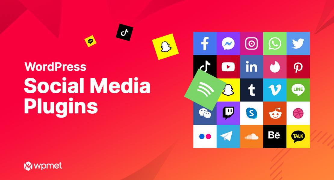 Top 10 WordPress Social Media Plugins Banner