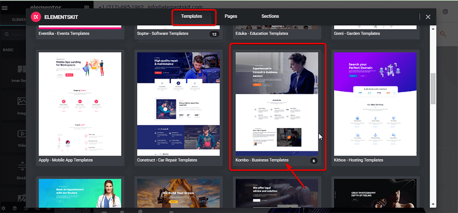 Search for business template by ElementsKit.png