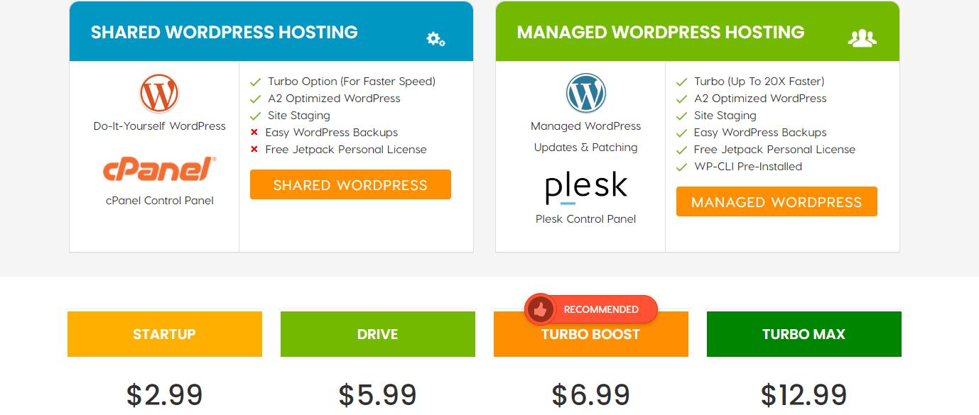 a2 hosting service