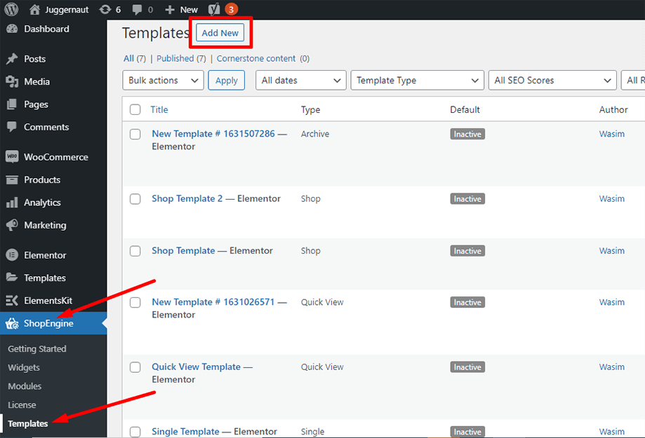 Add a new template for cart table widget