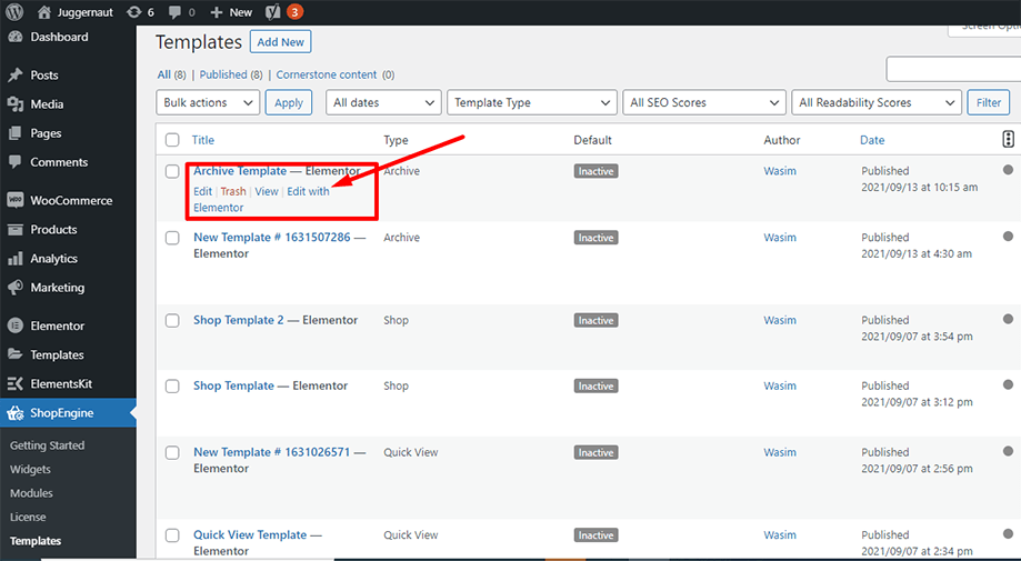 Edit with elementor for archive description