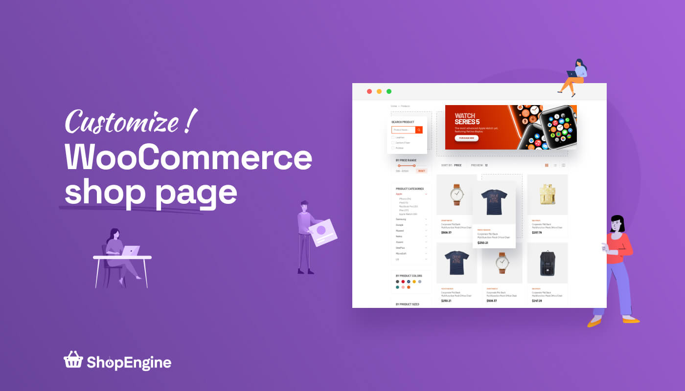 Customize WooCommerce shop page with ShopEngine