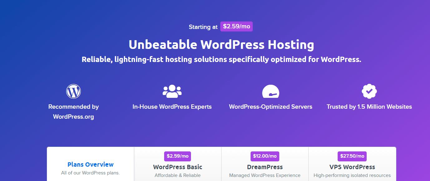 dreamhost hosting service